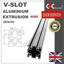 V-SLOT 4040 BLACK ALUMINIUM EXTRUSION PROFILE LINEAR GUIDE RAIL CNC 6mm Slot UK