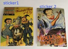 Betty Boop Licensed Stickers (2) new old stock out of print