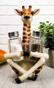 "Sitting Giraffe Salt and Pepper Shakers Home Decor Figurine Statue 8.5""H ON SALE"