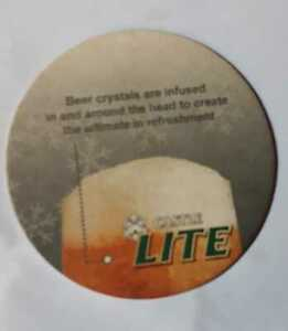 SOUTH AFRICA    BEER COASTER #  FRONT -VERSE  049