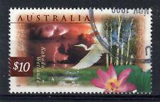 AUSTRALIA = QE2 era, 1997 $10 Kakadu Wetlands. FINE USED. (a)