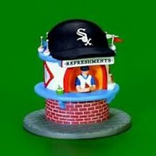 DEPT 56 CHICAGO WHITE SOX LIGHTED REFRESHMENT STAND W/BOWL/MINT IN MINT BOX