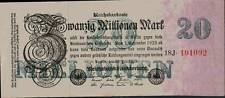 1923 Germany Weimar Republic Hyper Inflation 20.000.000 Mark Banknote
