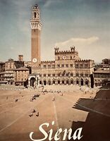 Original VTG~SIENA,ITALY~Piazza del Campo~Tower~Travel&Tourism~EUROPE Art Poster