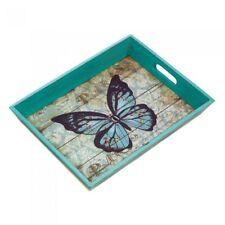 Blue Butterfly Tray Snacks or Breakfast Serving Tray