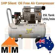 1HP 750W Silent Quiet Noiseless Air Compressor 25L Dentist Medical Lab Dental