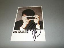 Rod Gonzalez Die Ärzte  signiert signed autograph Autogramm Autogrammkarte