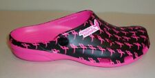 Crocs Size 7 FREESAIL SUSAN G KOMEN BREAST CANCER Black Mule New Womens Shoes