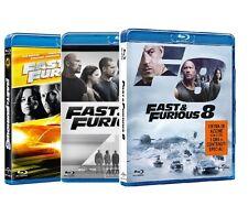FAST AND FURIOUS 6, 7, 8 (3 BLU-RAY) Vin Diesel, Paul Walker, Dwayne Johnson