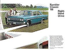 RAMBLER CLASSIC 4 DOOR SEDAN AND STATION WAGON USA CAR SALES BROCHURE 1966