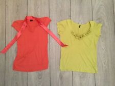 2x Bluse UNITED COLORS OF BENETTON XS 34 Shirt Schleife Blümchen Blumen Oberteil
