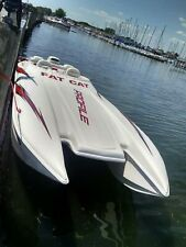 Profile catamaran cat tunnel hull race boat freshwater