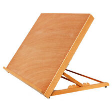"""25"""" x 19"""" Adjustable PortableWood Desk Easel Board Painting Storage Stand Table"""