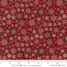 Fabric-Moda Fabric-Once Upon A Memory-Crimson Snowflakes-Holly Taylor #6735-15