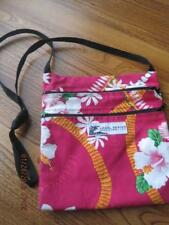 Made in HAWAII Cloth Pouch Purse Bright Orchid Pattern LOCAL DESIGN
