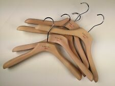 """LBM 1911 Set of 2 Jacket Thick Flat Wooden Hangers Made in Italy 40cm 16"""""""