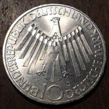 PIECE DE 10 DEUTSCHE MARKS 1972 D ARGENT JEUX OLYMPIQUES (255)