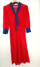 Vintage Jonathan Martin Red Dress Womans Size 11/12