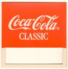 "Coca-Cola Classic Vending Machine Insert, Push Button Style, 3 1/2"" x 3 1/2"""