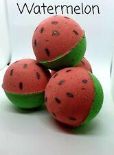 BATH BOMBS WATERMELON SCENTED HANDMADE NATURAL BATH BOMBS x4 gift set