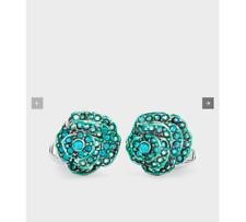 "New! $125 Paul Smith ""Turquoise Rose"" Cufflinks"