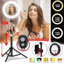 """8.66"""" Dimmable Ring Light Phone Camera bluetooth Selfie Makeup Live w/ Sta #"""