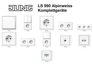 JUNG LS 990 Alpinweiss Komplettgeräte