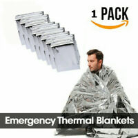 """1 Pack Emergency BLANKET Thermal Survival Safety Insulating Mylar Heat 84"""" X52""""~"""