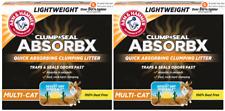 2 Arm & Hammer Clump & Seal AbsorbX Clumping Litter, MultiCat 8.5lb