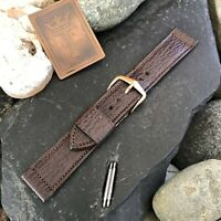 "rare 11/16"" Kreisler Saddle Leather Short nos Premium Vintage Watch Band"