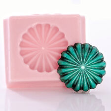 Star Concho Silicone Mould Mold Cream Cheese MInt Fondant Resin Clay Candy  (940