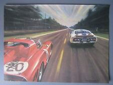 R&L Ex-Mag Advert: Colour Plate, Ferrari, Ford GT, Artist Roy Nockold, Le Mans