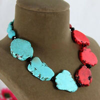 Charm Special Design Turquoise Slice Handmade Princess Necklace Woman Gift Party