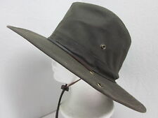New S/M Dorfman Pacific Oilcloth Single Snap Outback Hat UPF50+ water resistant