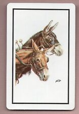 Vintage donkey horse playing swap cards mint condition