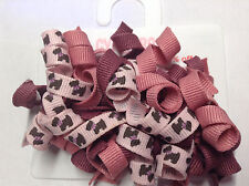 Gymboree Girl Detective Line Snaps Clips Barrette NWT Dog Puppy Curly Pink Ribbo