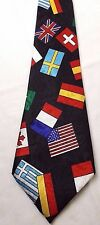 Renaissance Handmade Country Flags Men'S Tie British Japan Usa Canada China