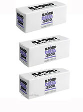 3 Rolls Ilford Delta 3200 120 Professional Black & White Negative Print Film
