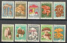 Romania 1958 MNH Mi 1721-1730 Sc 1225-1234 Mushrooms **
