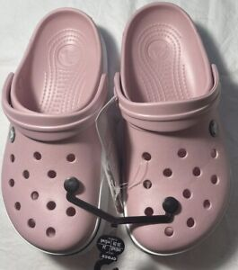 New Women's CROCS Pink Shoes Clogs Size 9 FREE SHIPPING