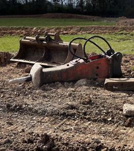 Breaker Hammer Excavator 80mm Pins 20t Excavator