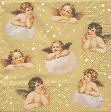 2 serviettes en papier Anges Angelots Decoupage Paper Napkins Angel