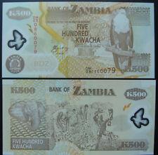 Zambia Polymer Plastic Banknote 500 Kwacha 2008 Unc