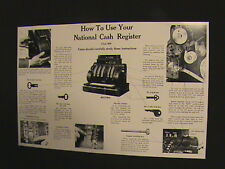 "ANTIQUE NATIONAL CASH REGISTER- ""HOW TO USE"" GUIDE 400/800 NCR!!!"