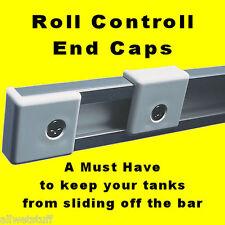 Scuba Tank Rack Bar End Cap Stop Roll Control Rail Track adjustable bracket dive