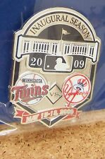2009 Yankee Stadium 1st Minnesota Twins vs NY New York Yankees lapel pin