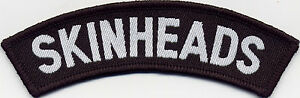 Skinheads Woven Badge Patch 35mm x 110mm UK Manufactured