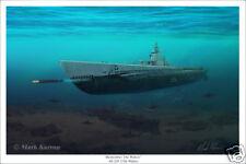 USS Wahoo Submarine Marine Art Print