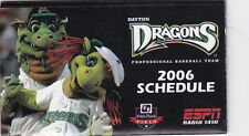 2006 Dayton Dragons Minor League Baseball Pocket Schedule