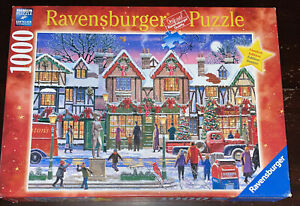 Ravensburger Christmas In The Square Limited Edition 1000 Piece Jigsaw Puzzle LE